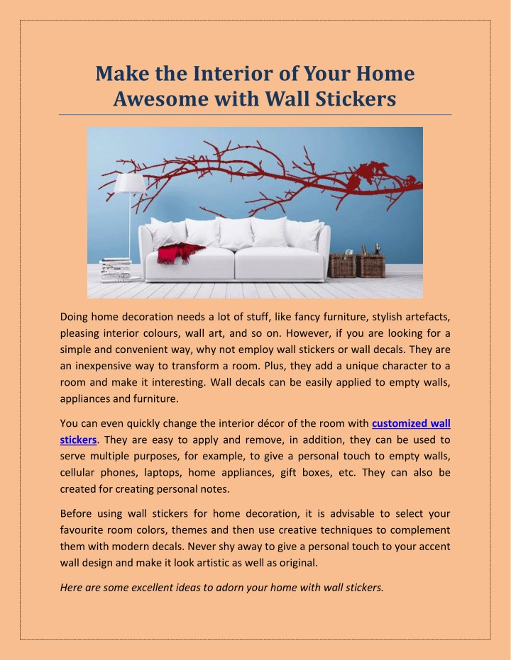 make the interior of your home awesome with wall n.
