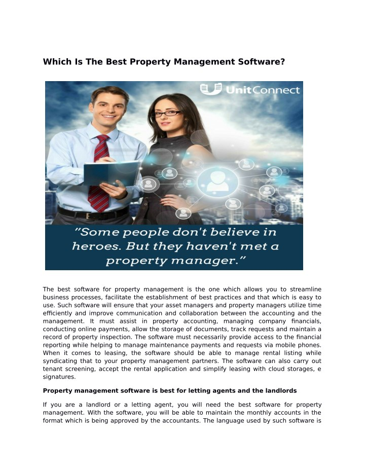 which is the best property management software n.