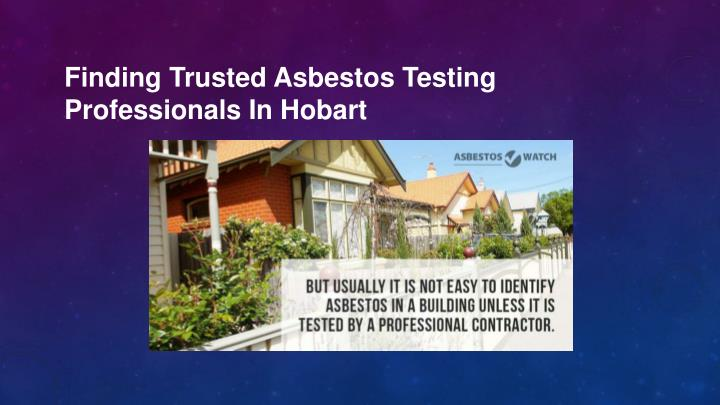 finding trusted asbestos testing professionals n.
