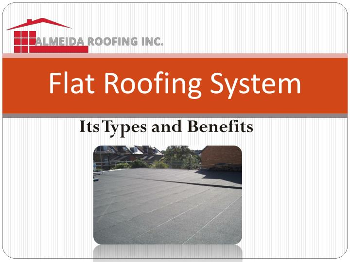 flat roofing system n.