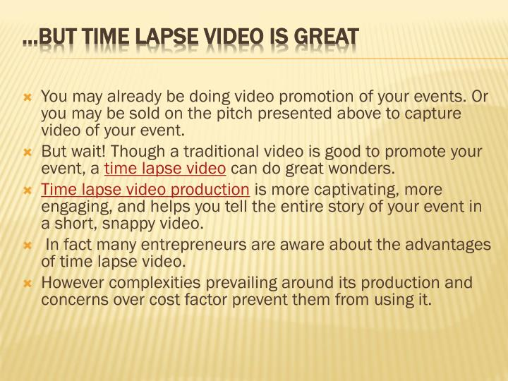 how to write time lapse in story