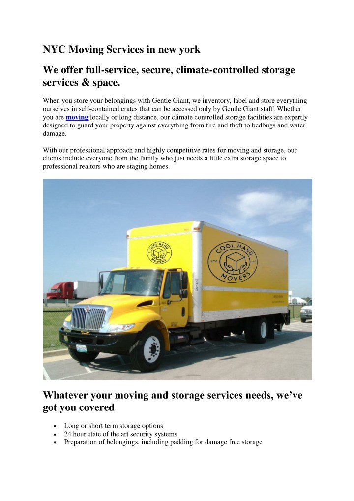 nyc moving services in new york n.