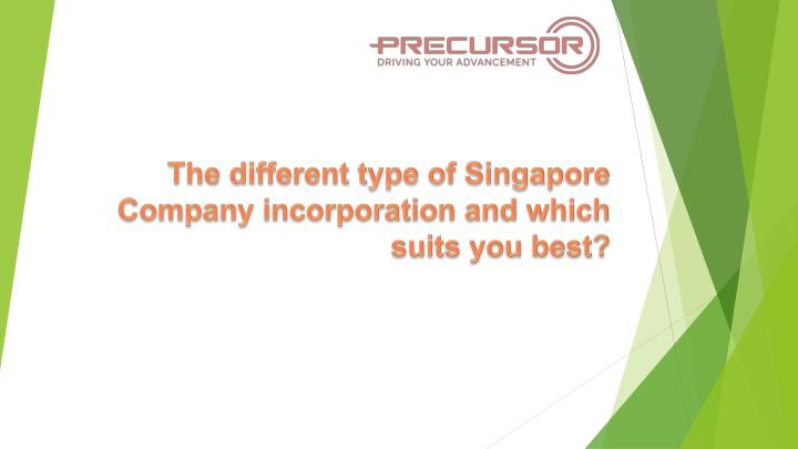 the different type of singapore company incorporation and which suits you best n.