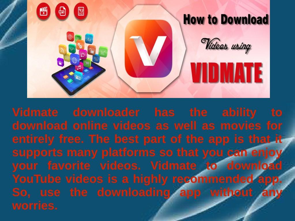 PPT - Download Online Videos Using The Vidmate App