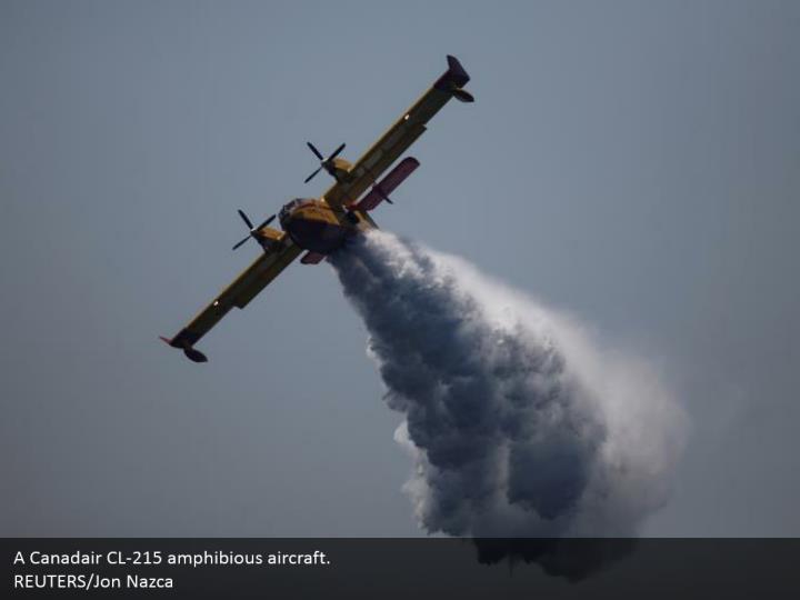 A Canadair CL-215 amphibious aircraft.  REUTERS/Jon Nazca