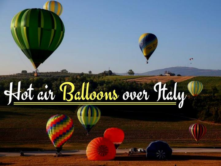 hot air balloons over italy n.
