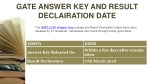 gate answer key and result declairation date