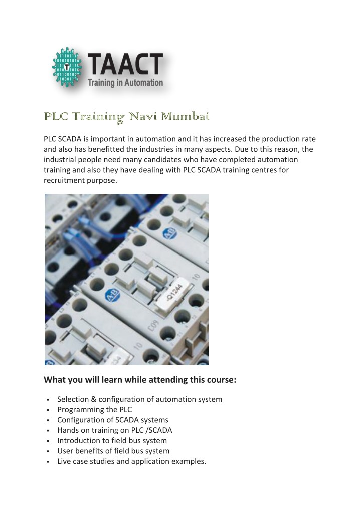 PPT - PLC Training Navi Mumbai PowerPoint Presentation - ID:7648884