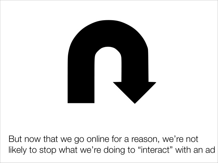 But now that we go online for a reason, we're not