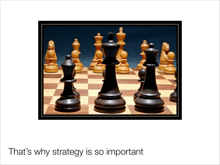 That's why strategy is so important