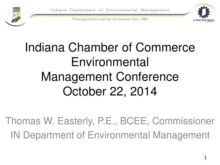indiana chamber of commerce environmental management conference october 22 2014 n.