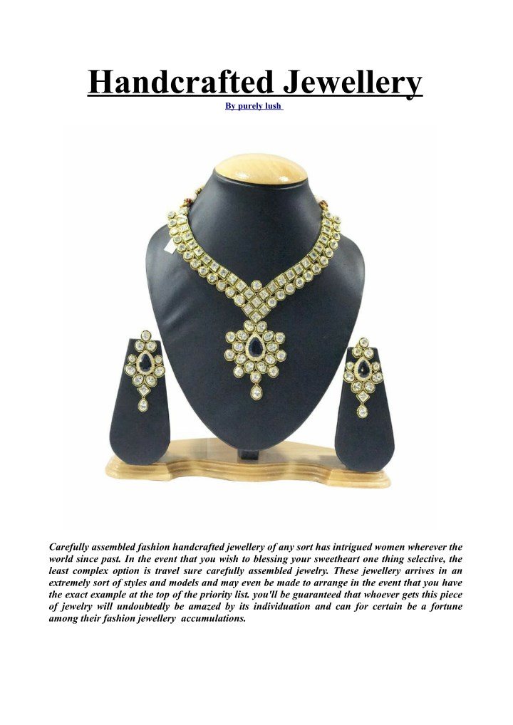 handcrafted jewellery by purely lush n.