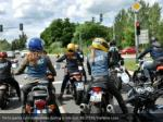 participants ride motorbikes during a ride