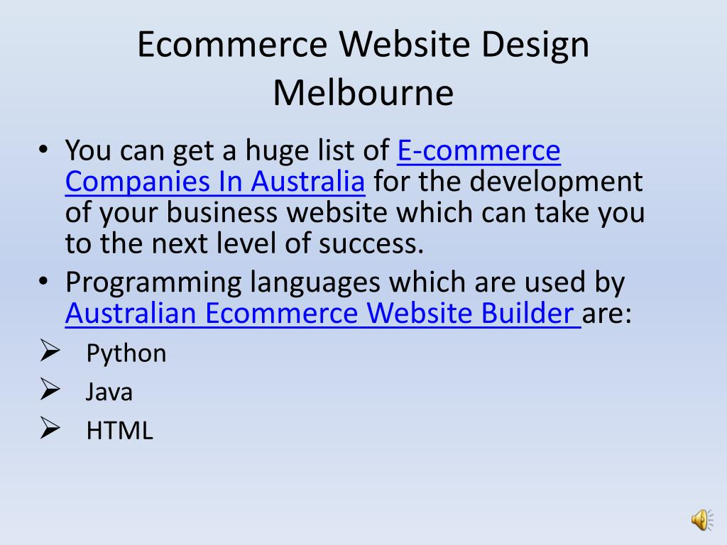 PPT - Best Ecommerce website design company in australia PowerPoint