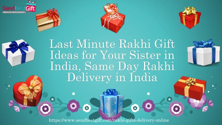 last minute rakhi gift ideas for your sister in india