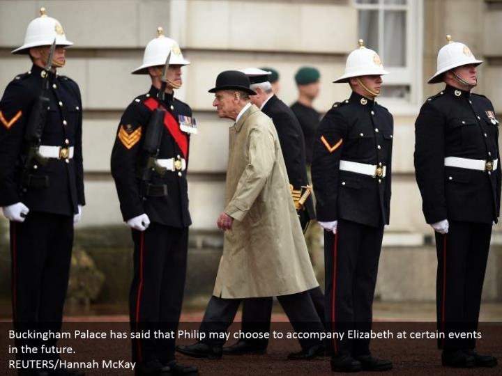 Buckingham Palace has said that Philip may choose to accompany Elizabeth at certain events in the future. REUTERS/Hannah McKay