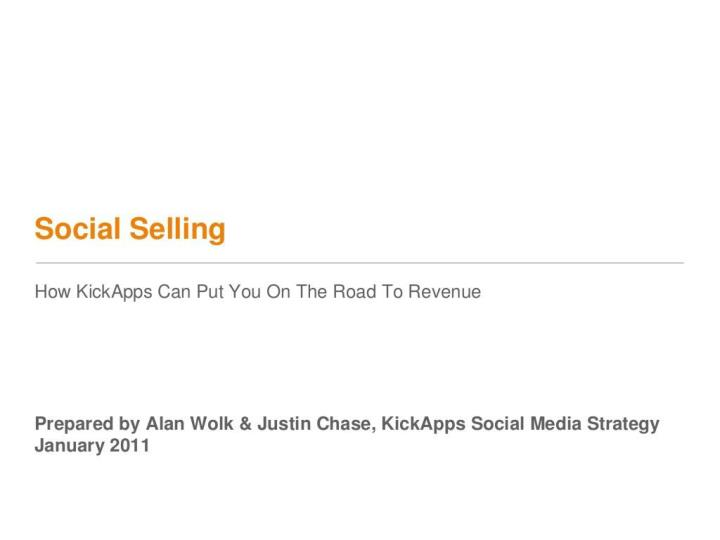 social selling by kickapps n.