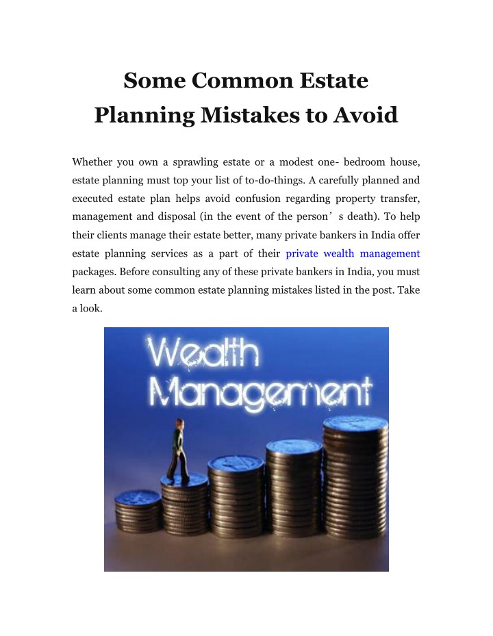 some common estate planning mistakes to avoid n.