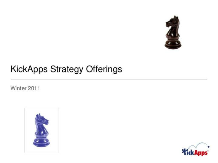 kickapps social strategy offering n.