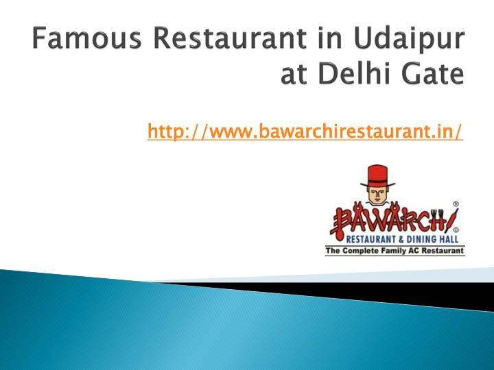 famous restaurant in udaipur at delhi gate n.