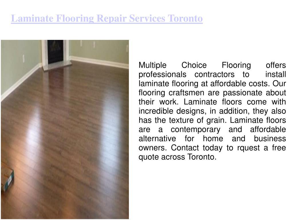Laminate Flooring Repair Services