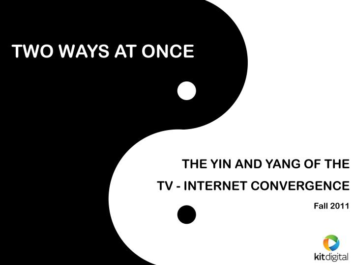 two ways at once n.