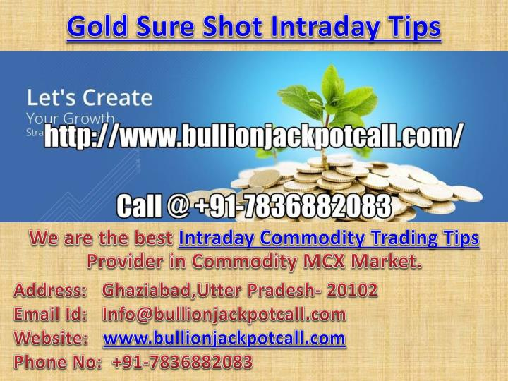 gold sure shot intraday tips n.