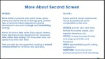 more about second screen 6
