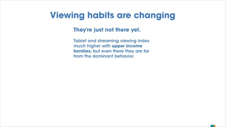 Viewing habits are changing