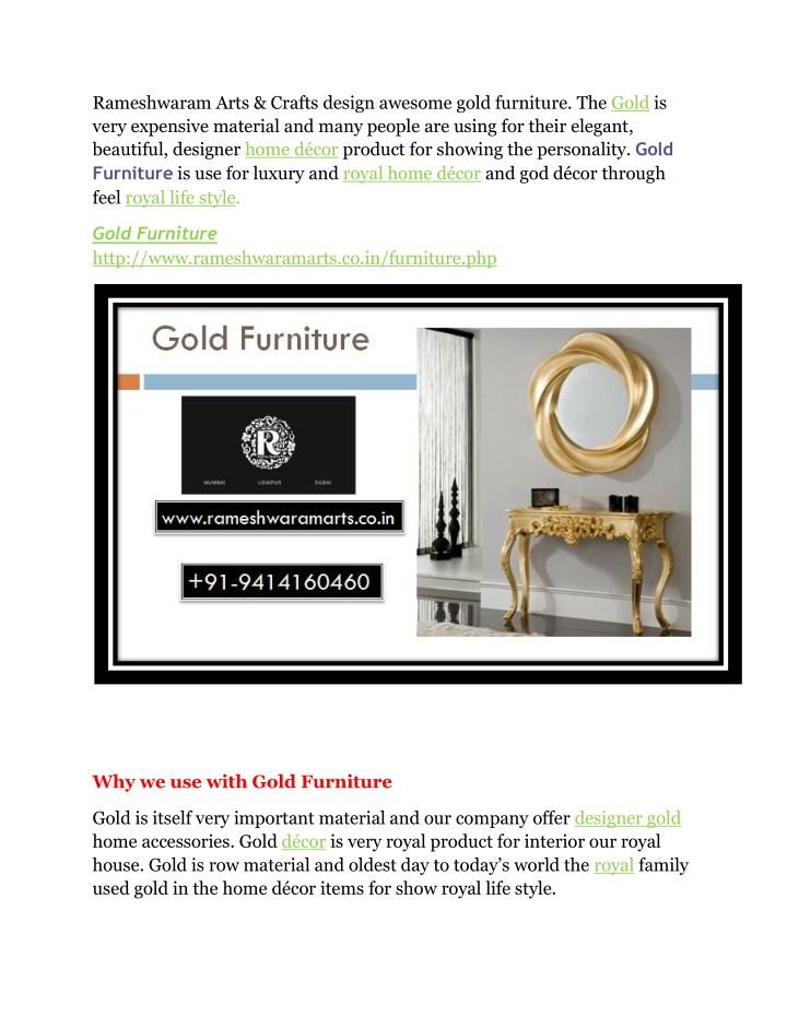 Rameshwaram arts crafts design awesome gold