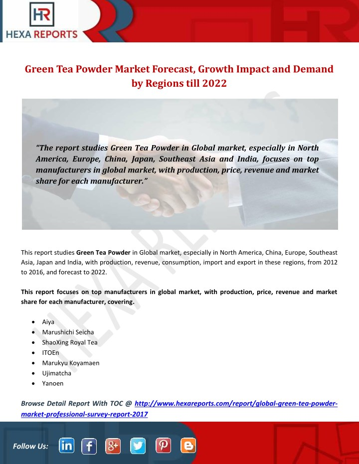 green tea powder market forecast growth impact n.