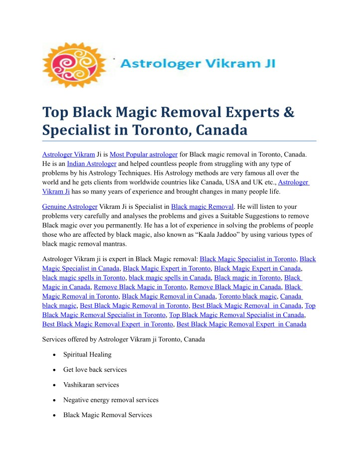 top black magic removal experts specialist n.