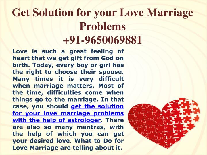 get solution for your love marriage problems 91 9650069881 n.