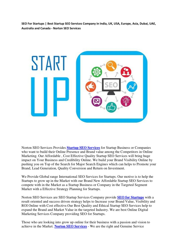 PPT - SEO For Startups | Best Startup SEO Services Company
