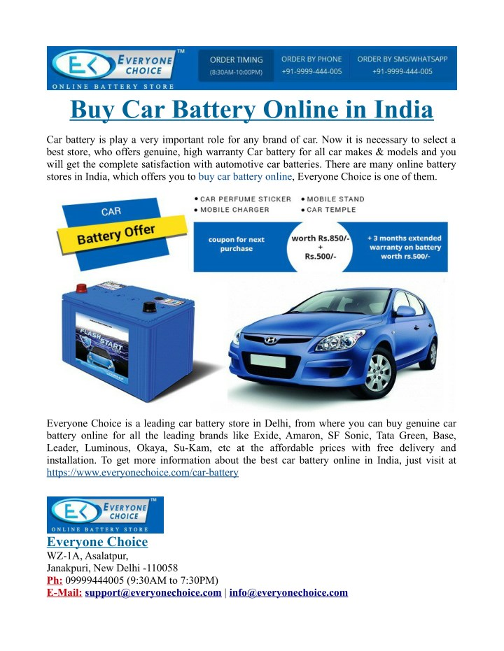Ppt Buy Car Battery Online In India Powerpoint Presentation Id