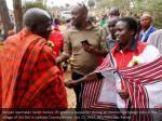 kenyan lawmaker sarah korere r greets a supporter
