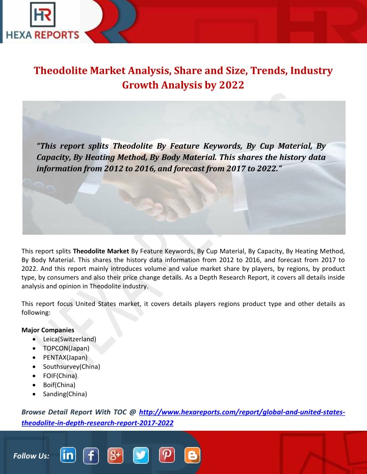 theodolite market analysis share and size trends n.