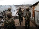 anti riot police officers deploy in mathare