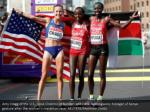 amy cragg of the u s rose chelimo of bahrain