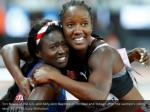 tori bowie of the u s and kelly ann baptiste