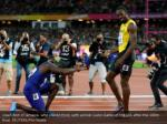 usain bolt of jamaica who placed third with