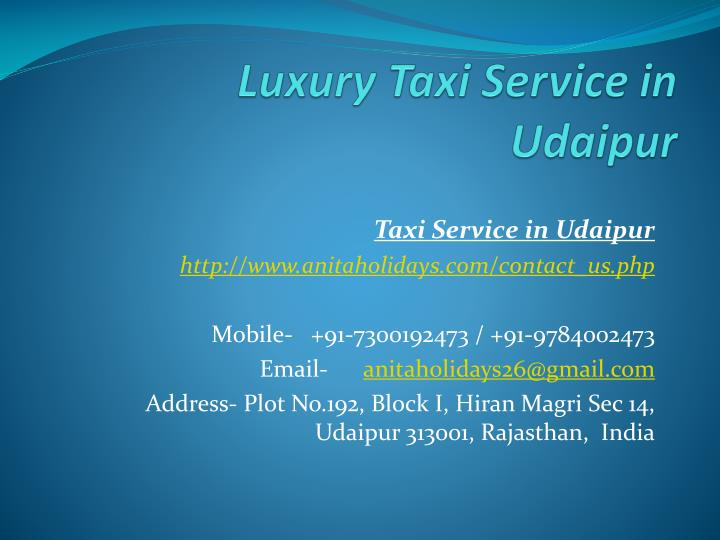 luxury taxi service in udaipur