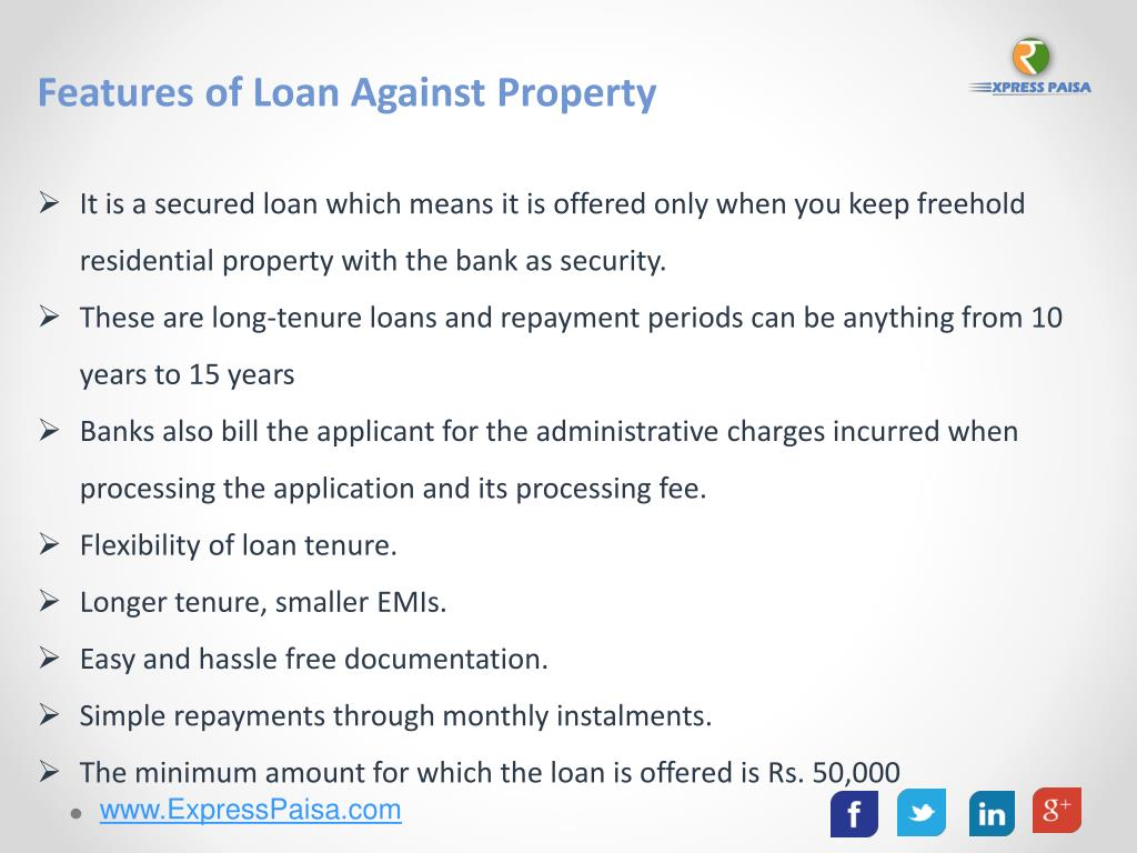 PPT - Loan Against Property With Long Tenure | Express Paisa