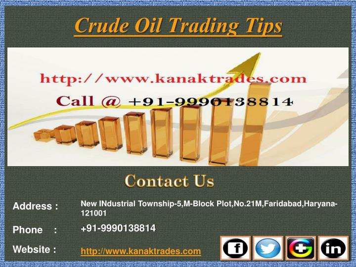 crude oil trading tips n.
