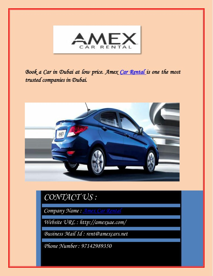 Ppt Provide The Most Satisfying Car Rental Dubai Service