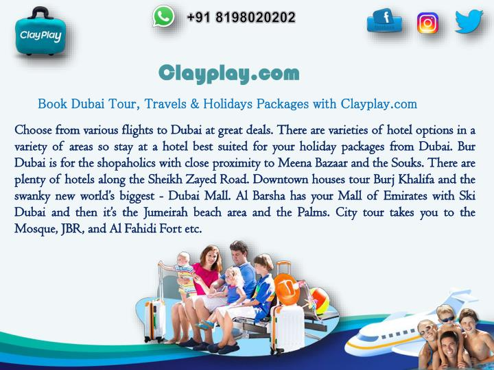 PPT - Book Dubai Tour, Travel and Holiday packages With
