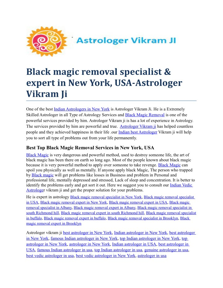 black magic removal specialist expert in new york n.