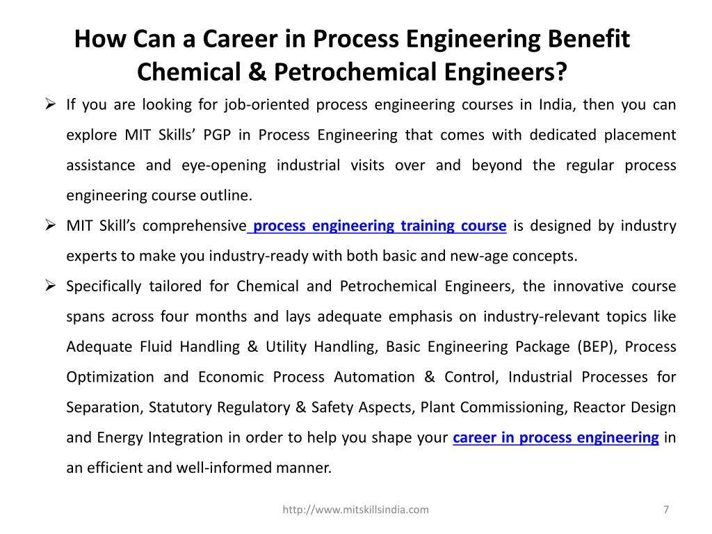 Ppt Career In Process Engineering For Chemical Petro Chemical Engineers Post Graduate Certificate Course In Process Engi Powerpoint Presentation Id 7659921