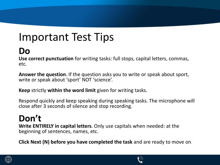 important test tips n.