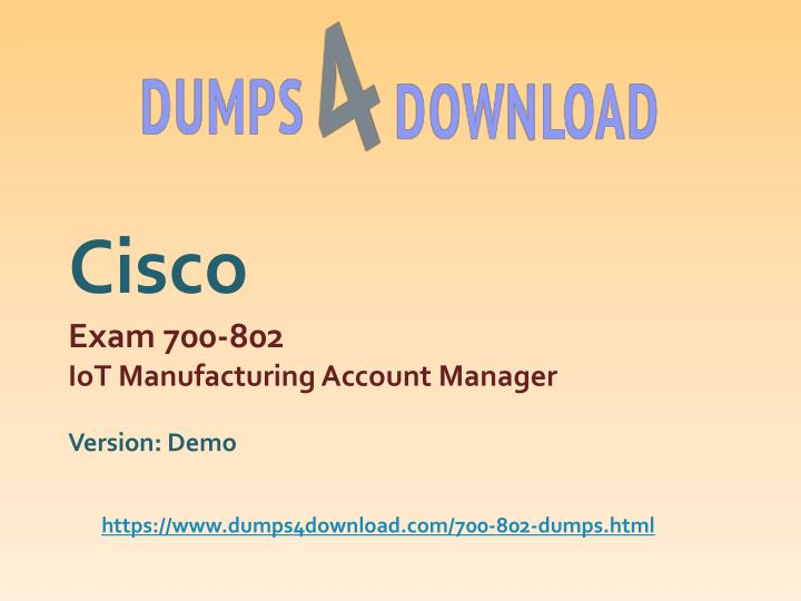 PPT - Download Free Cisco 700-802 Test Questions And Answers
